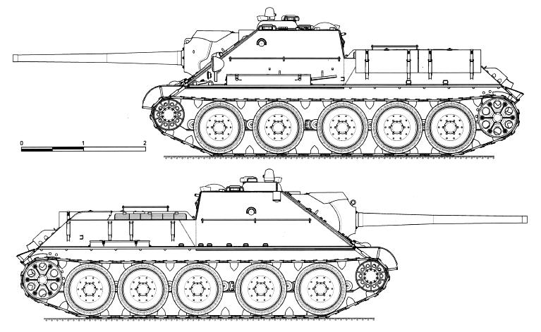 СУ-85 образца 1943 г.